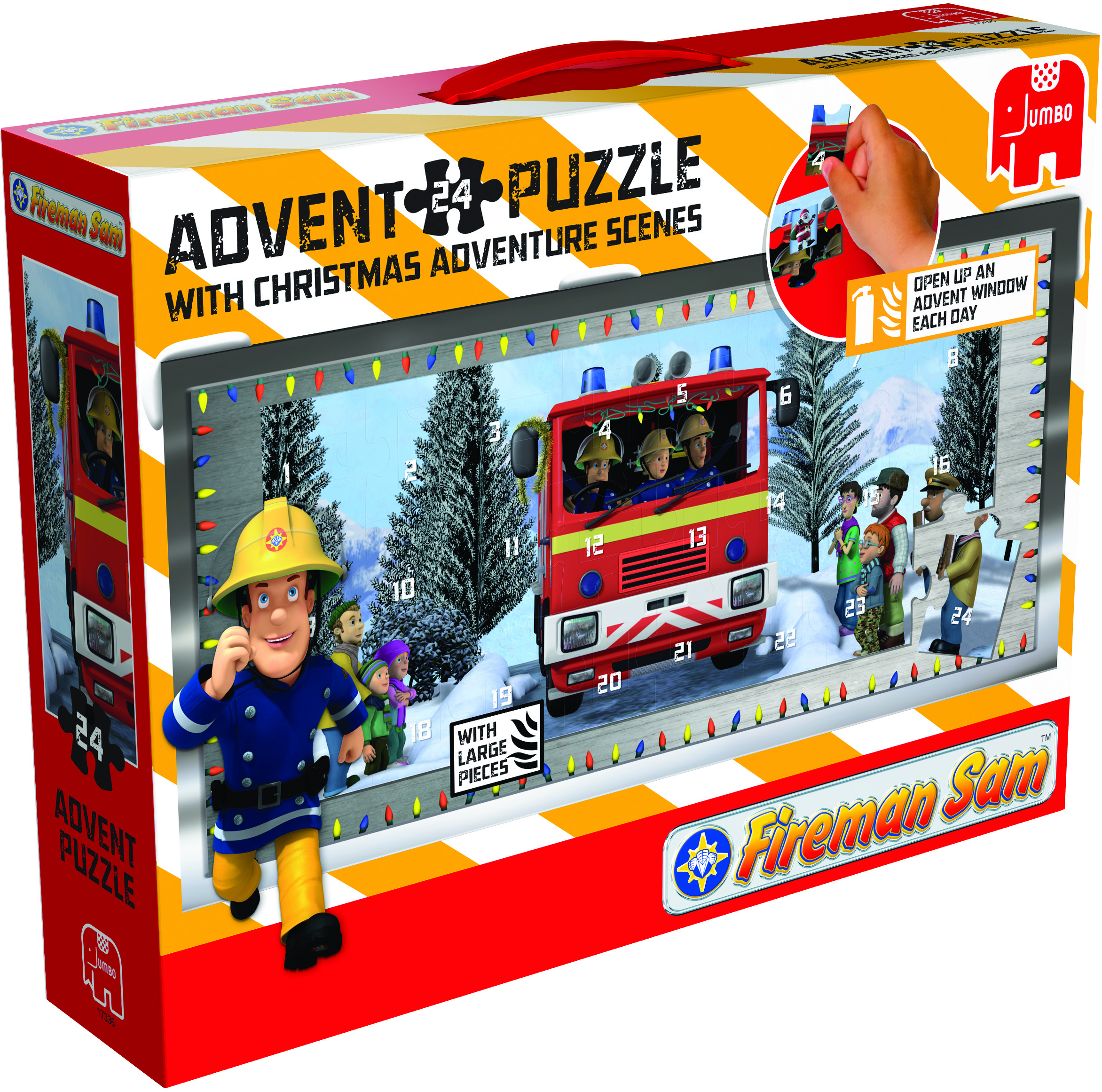 Fireman Sam Giant Jig-Saw Advent Calander. - Pampered Presents