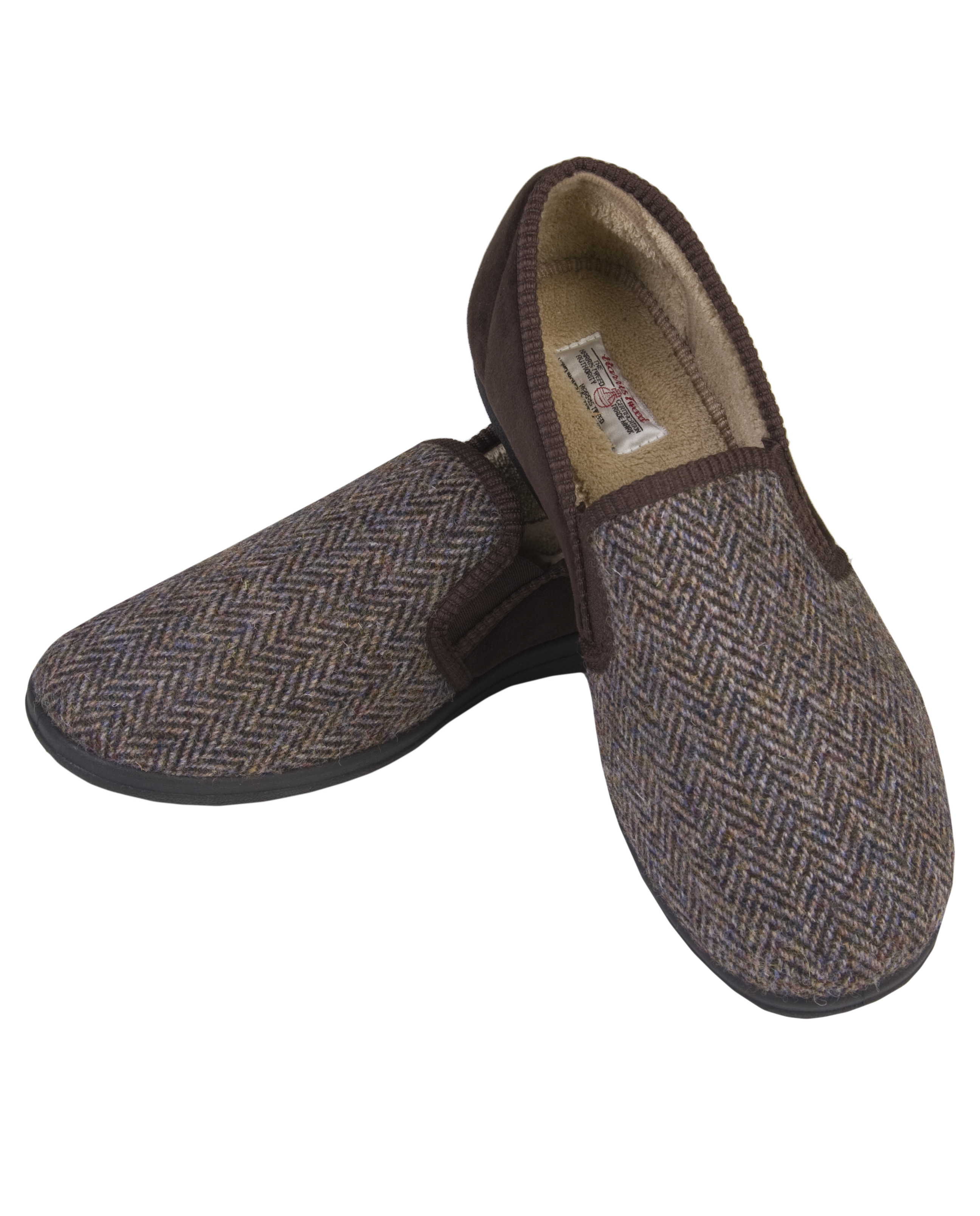 The Edinburgh Woollen Mill Harris Tweed Trapper Hat And Slippers Pampered Presents