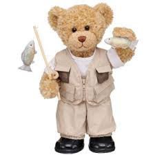 fishing teddy
