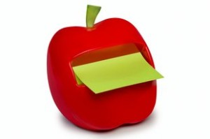 Post it apple dispenser