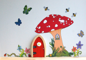 Irish Fairy Doors Toadstool Decal