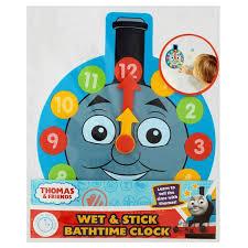 Thomas the tank engine wet & stick bathtime clock