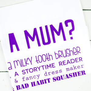 Bespoke Verse What Is A Mum - tea towel